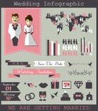 Wedding infographic Стоковое Изображение