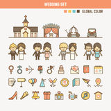 Wedding infographic elements for kid Royalty Free Stock Photo