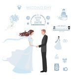 Wedding infographic Royalty Free Stock Photography