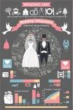 Wedding infographics set.Retro wedding clothing Royalty Free Stock Images