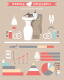 Wedding infographic set.Wedding clothing Royalty Free Stock Photography