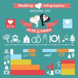 Wedding infographics set.Wedding day Stock Image