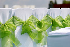 Wedding interior with row of chairs Stock Images