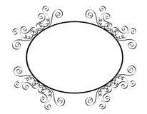 Wedding invitation. An elegant white / black wedding invitation border / frame Stock Images