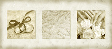 Wedding invitation. In the ancient style Royalty Free Stock Images