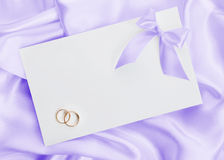 The wedding invitation stock photo
