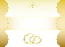 Wedding Invitation. Elegant golden wedding invitation card Stock Image