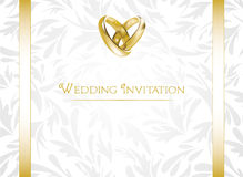 Wedding Invitation. Elegant wedding invitation card Royalty Free Stock Photos