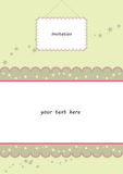 Wedding invitation. Wedding card or baby shower invitation Stock Photos
