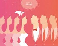 Wedding invitation. Wedding ceremony invitation vector illustration royalty free illustration