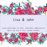 Wedding invitation Royalty Free Stock Photos