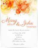 Wedding invitation with abstract roses Stock Photography