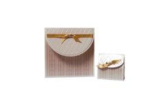 Wedding Invitation And Gift Box Stock Photos