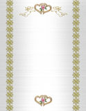 Wedding invitation angels and hearts Royalty Free Stock Images