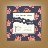 Wedding invitation or announcement card. Also perfect as card for birthday Stock Image