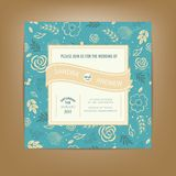 Wedding invitation or announcement card. Also perfect as card for birthday Stock Images