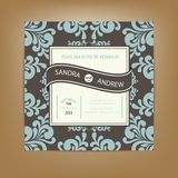 Wedding invitation or announcement card Stock Photography