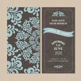 Wedding invitation or announcement card Royalty Free Stock Photo