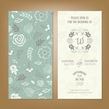 Wedding invitation or announcement card Royalty Free Stock Image