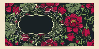 Wedding invitation and announcement card with floral background artwork. Elegant ornate floral background. Stock Images