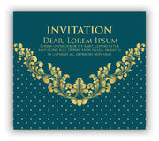 Wedding invitation and announcement card with floral background artwork. Elegant ornate floral background. Floral background and elegant flower elements royalty free illustration