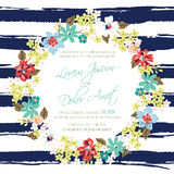 Wedding invitation or announcement card Royalty Free Stock Photography