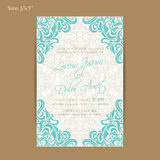 Wedding invitation or announcement card Royalty Free Stock Images