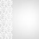 Lace border and pearls Royalty Free Stock Photos