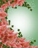 Wedding invitation azalea floral royalty free stock photos