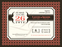 Wedding invitation background with border and frame Royalty Free Stock Photos