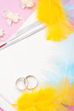 Wedding invitation, background. Stock Photo