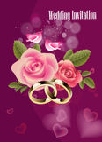 Wedding Invitation Background. Design in purple colors royalty free illustration