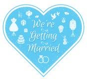 Wedding Invitation Badge Royalty Free Stock Images