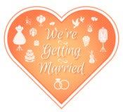 Wedding Invitation Badge Pink Royalty Free Stock Images