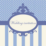 Wedding invitation in baroque style Royalty Free Stock Image