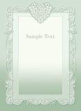 Wedding invitation, beautiful heart Stock Photo