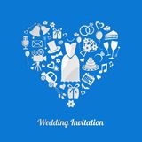 Wedding invitation Stock Image