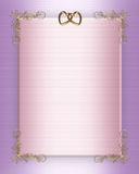 Wedding Invitation Border elegant satin Royalty Free Stock Photo