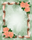 Wedding Invitation border hibiscus Royalty Free Stock Image