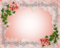 Wedding Invitation Border Ivy Floral  Stock Image
