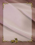 Wedding Invitation Border mauve satin Royalty Free Stock Photo