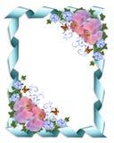 Wedding invitation border orchids stock image