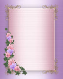 Wedding invitation Border orchids ivy Royalty Free Stock Photos