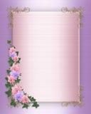 Wedding invitation Border orchids ivy Royalty Free Stock Photos