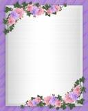Wedding invitation Border orchids ivy Royalty Free Stock Image