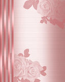 Wedding Invitation border Pink Satin Royalty Free Stock Photos