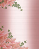 Wedding Invitation Border Pink Satin Royalty Free Stock Image