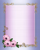 Wedding invitation Border purple flowers Stock Image
