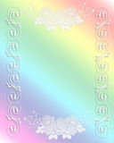 Wedding Invitation Border Rainbow lace Stock Photo