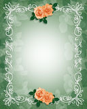 Wedding Invitation Border Roses Stock Photo